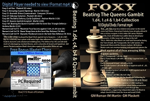 Beating The Queen's Gambit 1.d4,1.c4 & 1.b4 Collection (10 Digital DVDs) Download or Disk